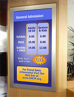 Admission Digital Signage